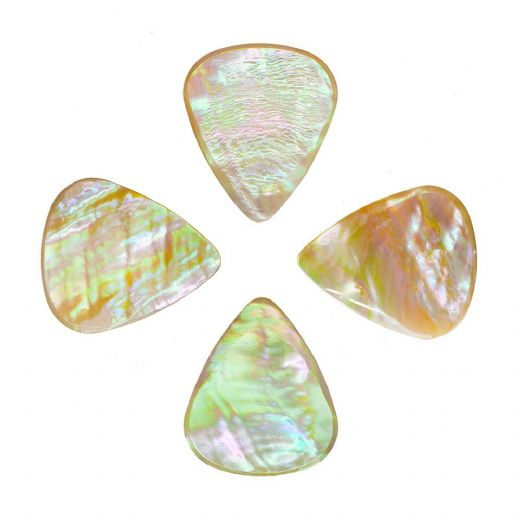 Abalone Tones Greenlip Abalone 4 Guitar Picks
